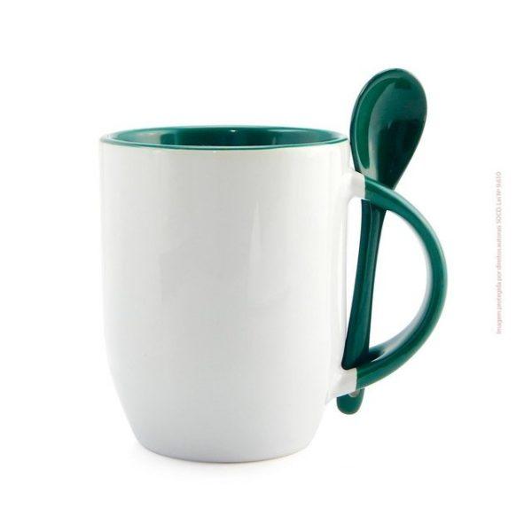 caneca-para-sublimacao-de-ceramica-branca-com-alca-interior-e-colher-verde-novo