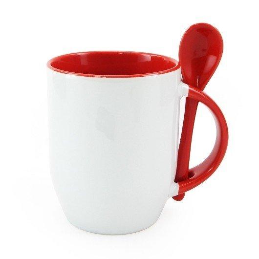 caneca-para-sublimacao-de-ceramica-branca-com-alca-interior-e-colher-vermelha