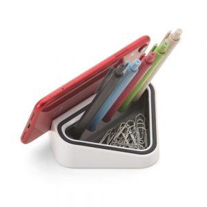 Suporte para celular com porta canetas